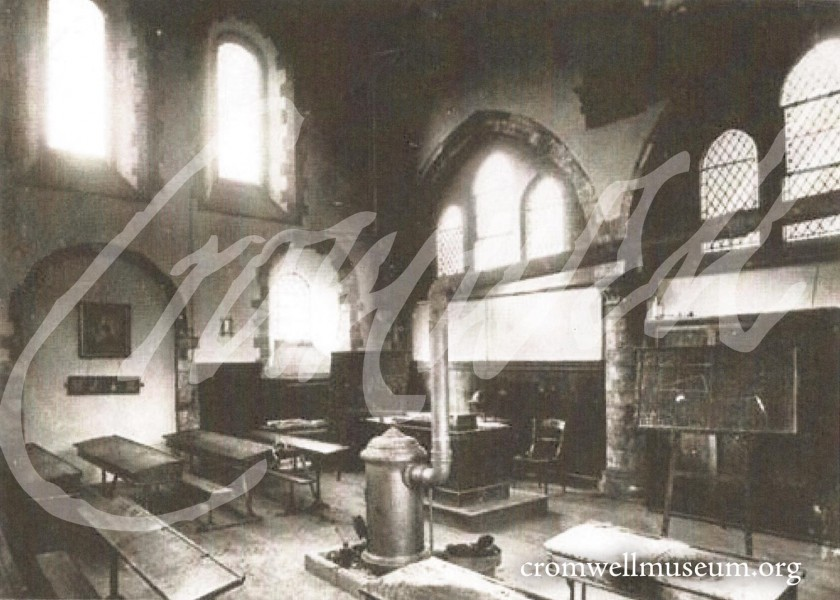 Huntingdon Grammar School Interior, 1900's
